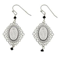 Michael Anthony Jewelry® Miraculous Mary Drop Sterling Silver Earrings