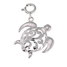 Michael Anthony Jewelry® Sterling Silver Diamond-Cut Turtle Pendant