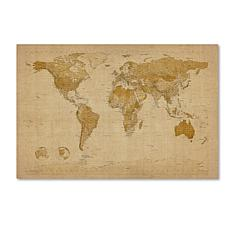 "Michael Tompsett ""Antique World Map"" Art - 16"" x 24"""