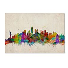 "Michael Tompsett ""New York Skyline"" Art - 16"" x 24"""