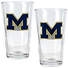 Michigan Wolverines 2pc Pint Ale Glass Set