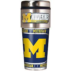Michigan Wolverines Travel Tumbler w/ Metallic Graphics and Team Logo