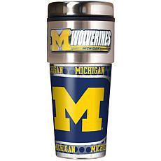Michigan Wolverines Travel Tumbler w/ Metallic Graphics