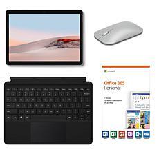 Microsoft Surface GO 2 8GB RAM 128GB eMMC Tablet Bundle w/Office 365