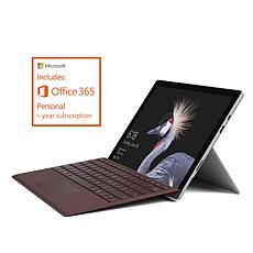 "Microsoft Surface Pro 12.3"" 128GB Core m3 Win 10 Tablet with Keyboard"