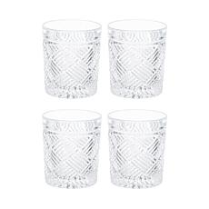 Mikasa Ballard Braid Double Old Fashioned Glass Set of 4