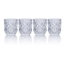 Mikasa Claremont Double Old Fashioned Glass Set of 4