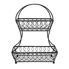 Mikasa Gourmet Basics Lattice 2 Tier Fruit Basket
