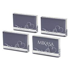 Mikasa Love Story Placecard Holder/Photo Frame 4pc Set