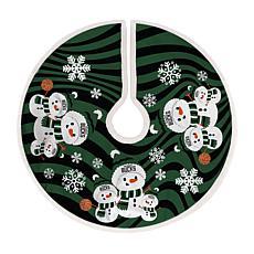 Milwaukee Bucks Snowman Christmas Tree Skirt