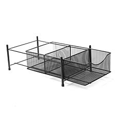 Mind Reader 3-Compartment Metal Mesh Storage Basket Organizer - Silver