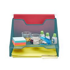 Mind Reader 3-Section Mesh File Organizer Tray