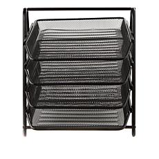 Mind Reader 4-Tier Metal Mesh Paper Organizer