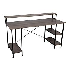 """Mind Reader 55"""" Desktop Computer Table with Shelves and CPU Storage"""
