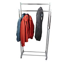 Mind Reader Adjustable 2-Tier Garment Rack