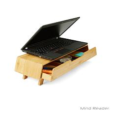 Mind Reader Bamboo Monitor Stand with Pull Out Drawer