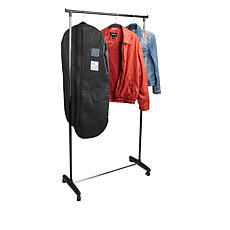 Mind Reader Black Adjustable Garment Rack