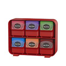 Mind Reader Clutch 6-Drawer Tea Bag Organizer