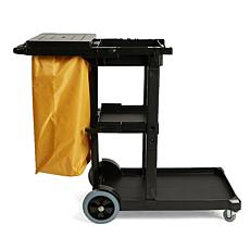 Mind Reader Commercial Heavy-Duty Janitorial Utility Cart