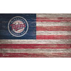 Minnesota Twins Distressed Flag 11x19