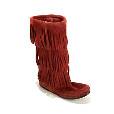 Minnetonka 3-Layer Suede Fringe Boot