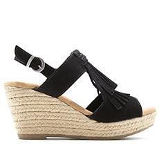 Minnetonka Ashley II Suede Fringe Wedge Sandal