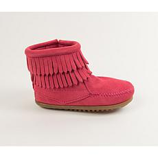 Minnetonka Child's Double Fringe Suede Bootie