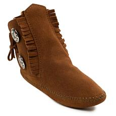 Minnetonka Men's Two-Button Softsole Moccasin Boot