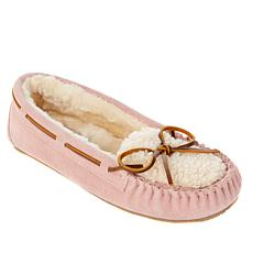 Minnetonka Suede Cozy Lined Slipper with Gift Bag