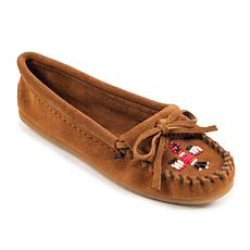 Minnetonka Thunderbird II Suede Beaded Moccasin