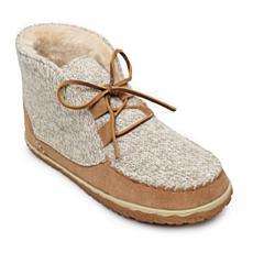 Minnetonka Torrey Lace-Up Slipper Bootie - Wide