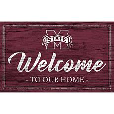 """Mississippi State University Team Color Welcome Sign - 11x19"""""""