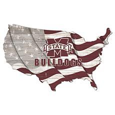 Mississippi State University USA Shape Flag Cutout