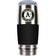MLB 30 oz. Stainless/Black Reserve Tumbler - Athletics