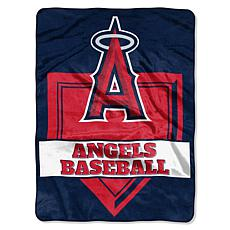 MLB Angels Home Plate Raschel Throw Blanket