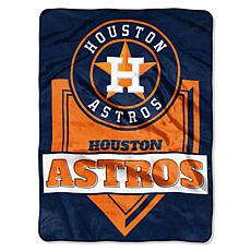 MLB Astros Home Plate Raschel Throw Blanket