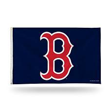 """MLB """"B"""" Logo Banner Flag - Red Sox"""