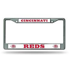MLB Block Letters Chrome License Plate Frame - Reds