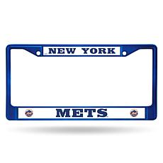 MLB Blue Chrome License Plate Frame - Mets