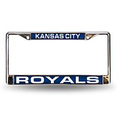 MLB Blue Laser-Cut Chrome License Plate Frame - Royals