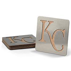 MLB Boasters 4-piece Coaster Set - Kansas City Royals
