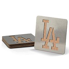 MLB Boasters 4-piece Coaster Set - Los Angeles Dodgers