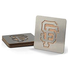 MLB Boasters 4-piece Coaster Set - San Francisco Giants