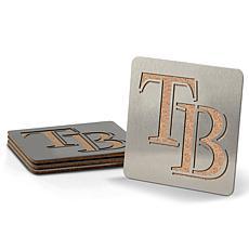 MLB Boasters 4-piece Coaster Set - Tampa Bay Rays