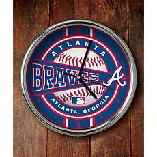 MLB Chrome Clock - Atlanta Braves