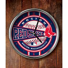 MLB Chrome Clock - Boston Red Sox