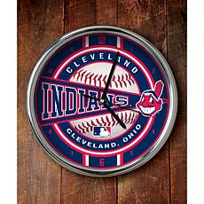 MLB Chrome Clock - Cleveland Indians