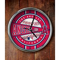 MLB Chrome Clock - Los Angeles Angels