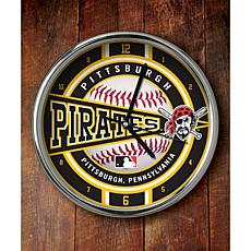 MLB Chrome Clock - Pittsburgh Pirates