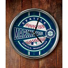 MLB Chrome Clock - Seattle Mariners